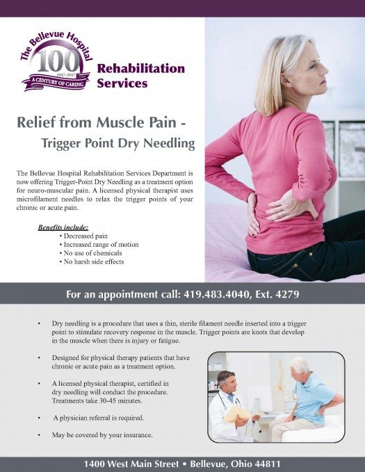 The Bellevue Hospital offers Trigger-Point Dry Needling for Muscle Pain